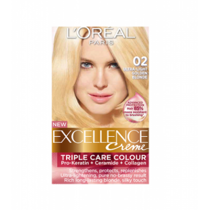 Loreal Excellence Creme 02 Ultra Light Golden Blonde Price In