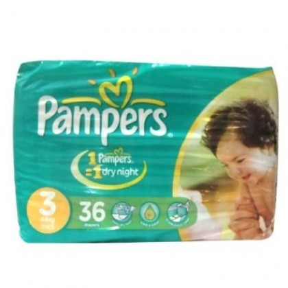 Pampers Jumbo Pack 3 Midi 4-9 Kg (36Pcs)