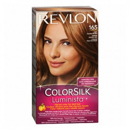 Revlon Colorsilk Luminista Hair Color Dye Light Caramel Brown 165