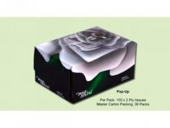 ROSE PETAL POP UP FACIAL TISSUES (150s)