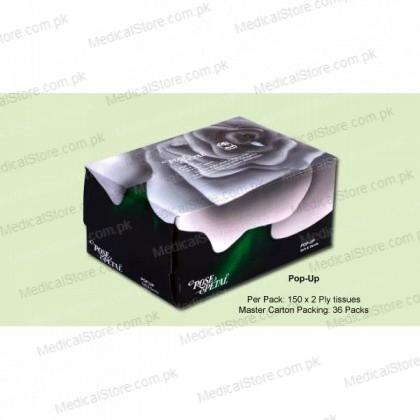 ROSE PETAL POP UP FACIAL TISSUES (150s)