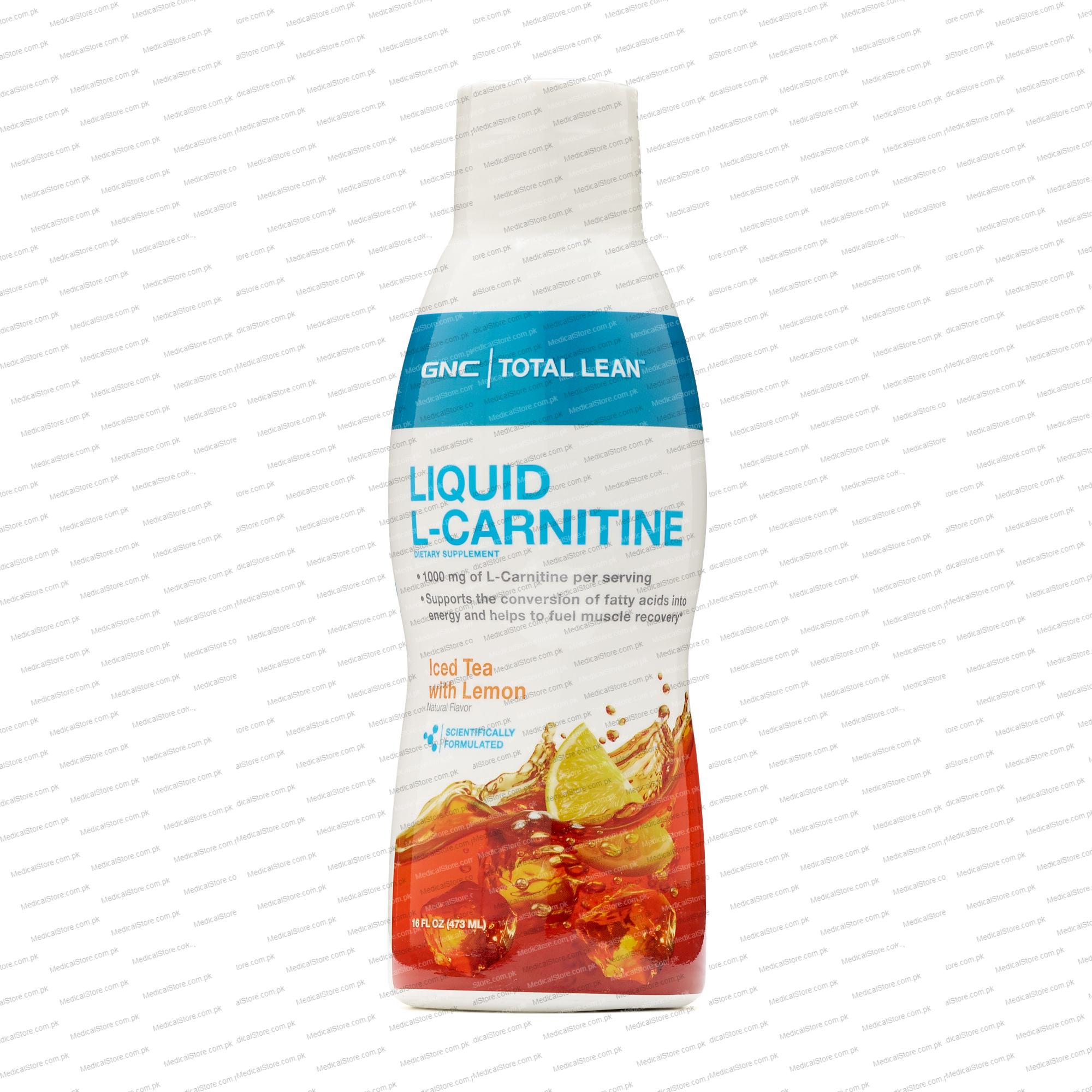 GNC TOTAL LEAN™ LIQUID L-CARNITINE - ICED TEA WITH LEMON