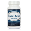 Imported GNC Folic Acid 400 mcg 100 Vegetarian tablets