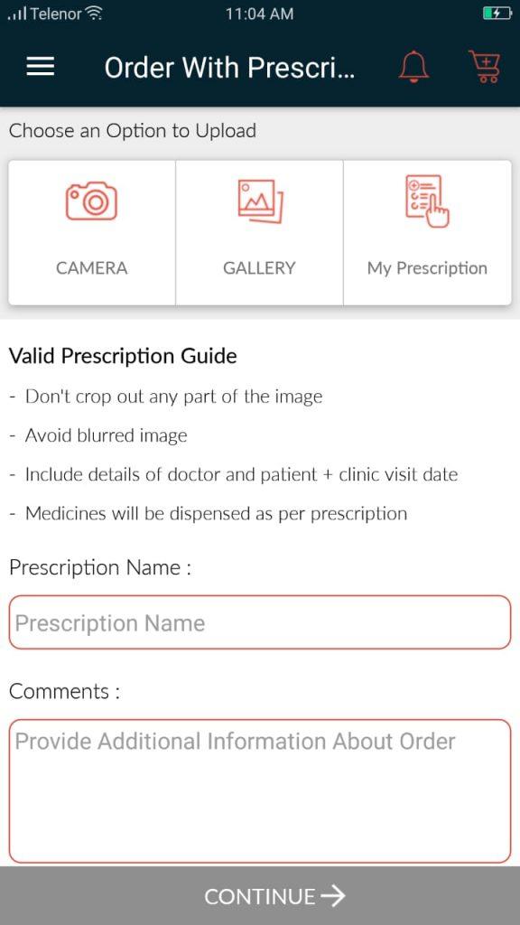 Medicine prescription-online medicine app