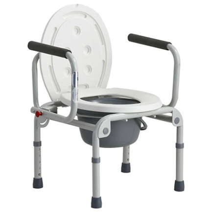 Alminium dull silver framek in white color wheelchair