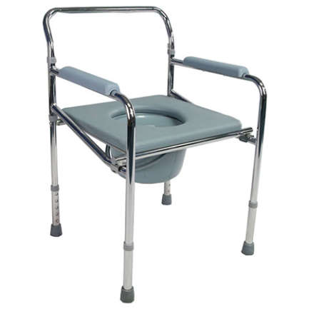 wheelchair with Power coated Steel silver folding frame