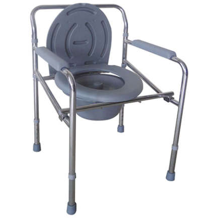 Adjustable height wheelchair with silver frame