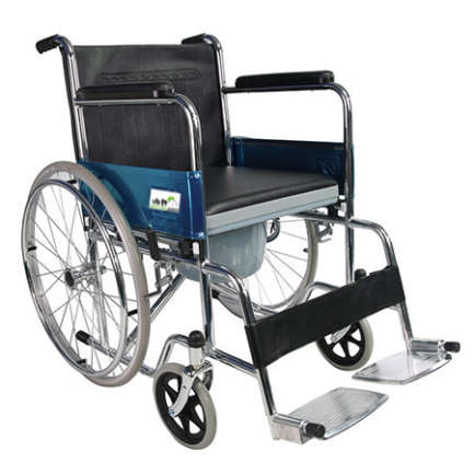 Chrome plated Steel Frame with Fixed Armrest and Legrest
